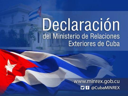Außenministeriums Kubas
