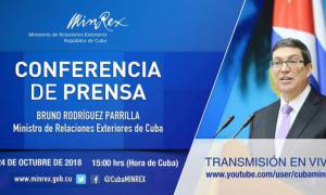 Pressekonferenz kubanisches Außenministerium