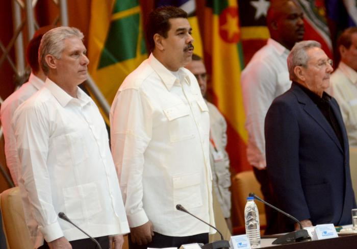 Díaz-Canel, Maduro und Raúl