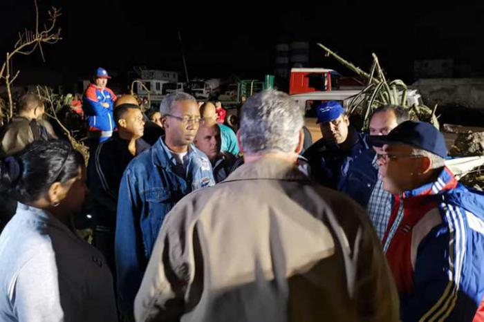 Díaz-Canel besucht vom Tornado betroffene Gebiete