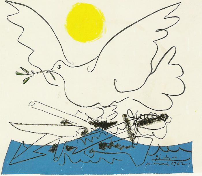 Friedenstaube der Zukunft von Pablo Picasso
