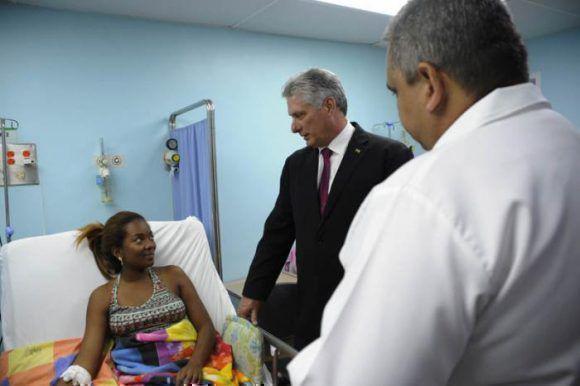 Díaz-Canel besuchte venezolanische Patienten