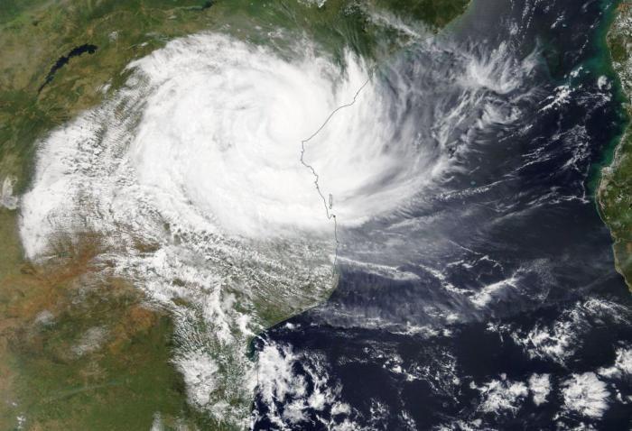 Zyklon Idai über Mosambik