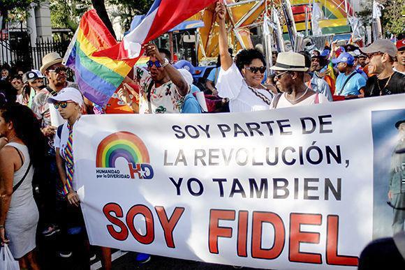 Conga gegen Homophobie und Transphobie