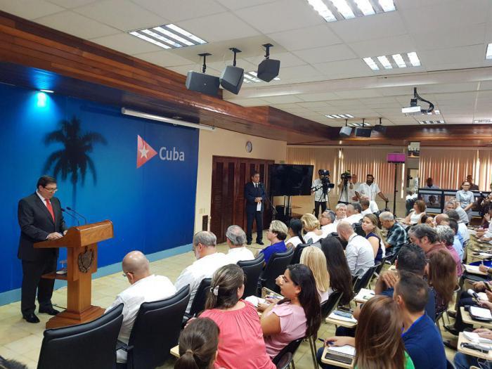 Pressekonferenz des kubanischen Außenministers