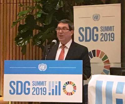 kubanischer Außenminister beim SDG-Summit 2019