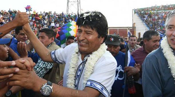 Evo Morales im Wahlkampf