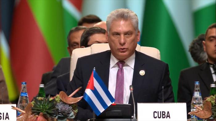 Díaz-canel Bermudez auf dem XVIII. Gipfel der blockfreien Staaten