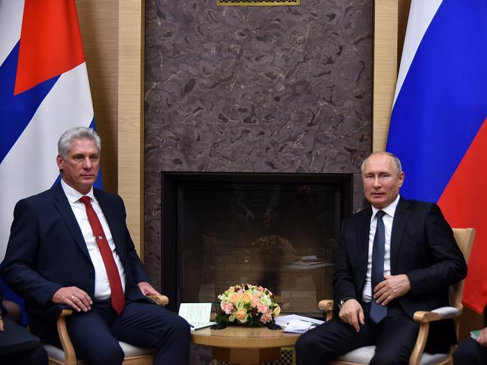 Díaz-Canel und Präsident Wladimir Putin