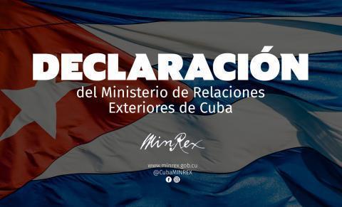 Erklärung des kubanischen Aussenminiseriums