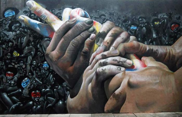 Solidarität; Urban Art, Werk von Case
