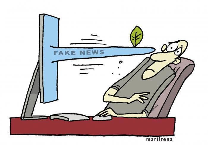 Karikatur - fake news: Martirena