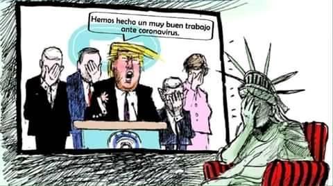 Karikatur: Donald Trump