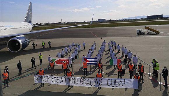 kubanische Medizinbrigade - Ankunft in Turin