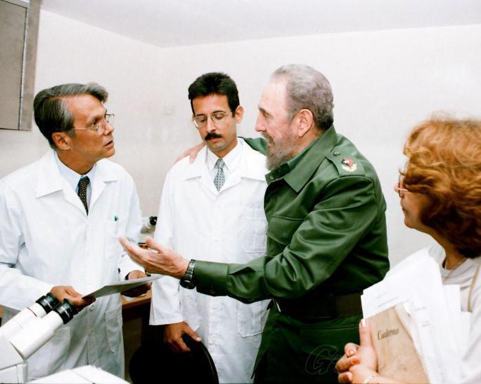 Fidel Castro im Nationalen Zentrum für Medizinische Genetik