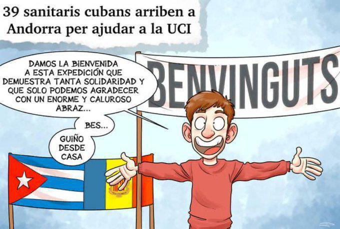 Plakat eines andorranischen Bürgers
