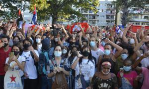 Kundgebung im Trillo-Park