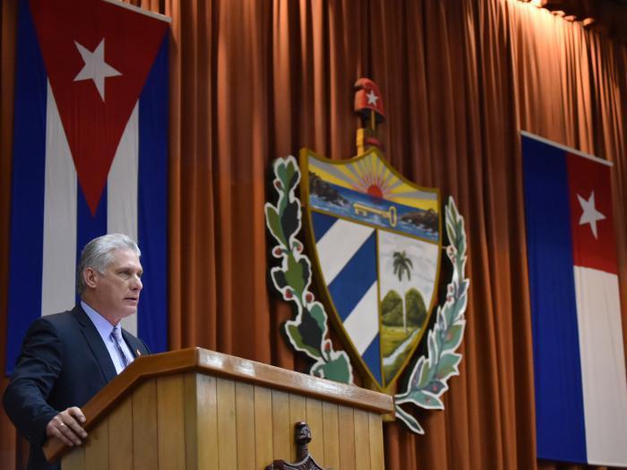 Präsident der Republik Kuba vor der Nationalversammlung
