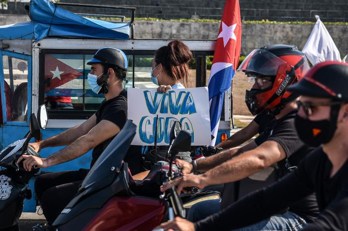 Korso gegen die Blockade