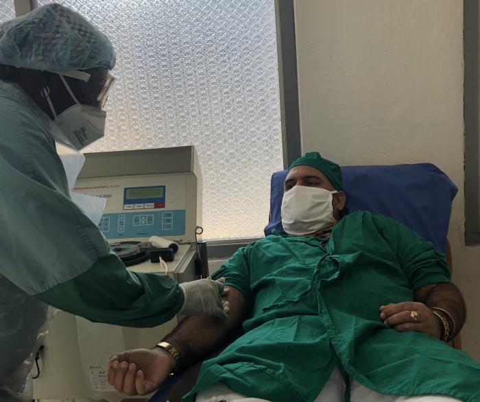 Behandlung mit Blutplasma