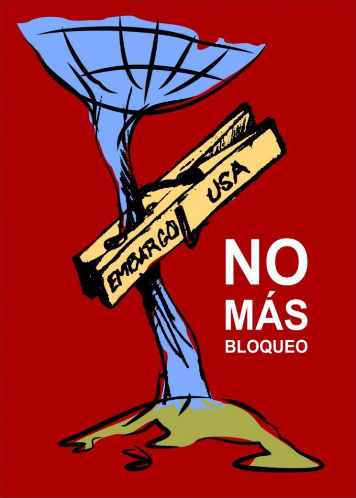 Plakat gegen die Blockade