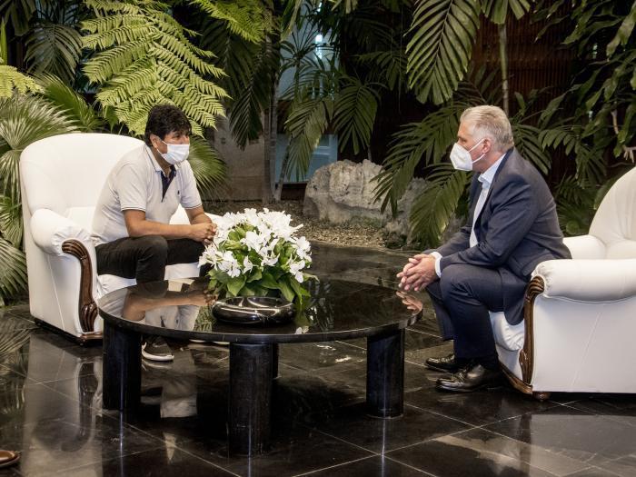Díaz-Canel empfängt Evo Morales Ayma
