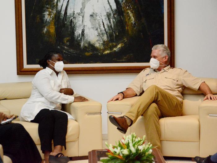 Díaz-Canel empfängt Gail Walker