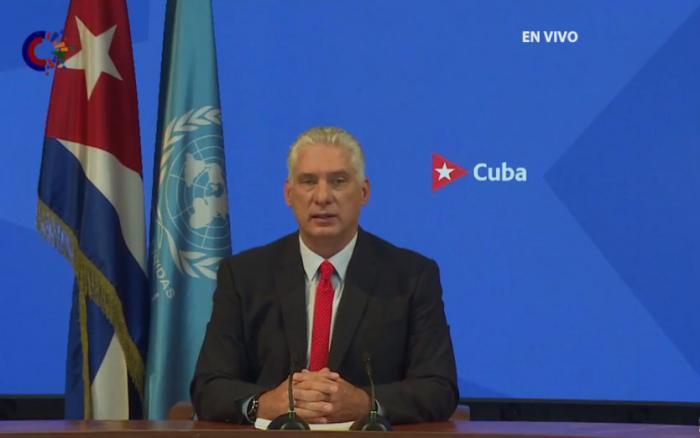 Präsident Miguel Díaz-Canel vor der UNO